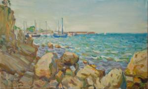 Вид на Александровскую бухту. х.м. 2020г 50х30 (2)