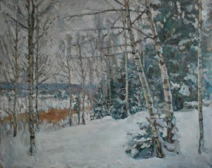 Зима. Опушка леса. 2015г. Х.м. 63,5х80