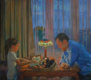 Игра в шахматы. 2020г. Х.м. 133х151