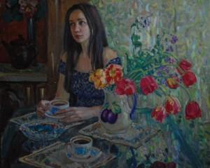Илья Лысенков. Утренний кофе. 2020г. Х.м 80х100