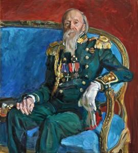 Мужской костюмированный портрет. 5 курс. 2012. Х.,м. 130х115