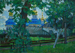 На Святой Горке. Псково-Печерский монастырь. х.м. 2020г. 50х70