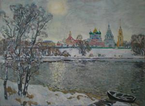 На берегу Москвы-реки. Х.м. 2020г. 104,5х143