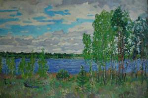 На озере. Май. 2020г. Х.м. 90х135