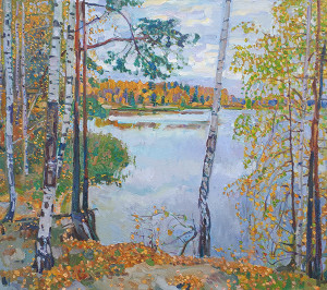 Осеннее озеро. Х.м. 2020г. 95х107