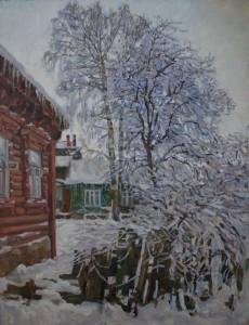 Рязанский дворик. 2016г. Х.м. 121х93