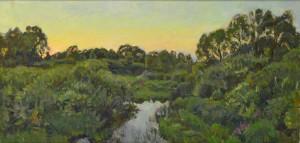 Река Старица. 2013г. Х.м. 54х113