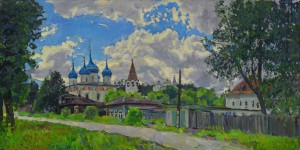 Старинный город - Гороховец. 2017г 62,5х125